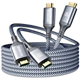 AkoaDa 8K Paquete de 2 Cable HDMI 2.1 Trenzado de Nylon, Soporte 8K 60Hz Ultra HD, HDR dinámico, Alta Velocidad 48Gbps, Dolby