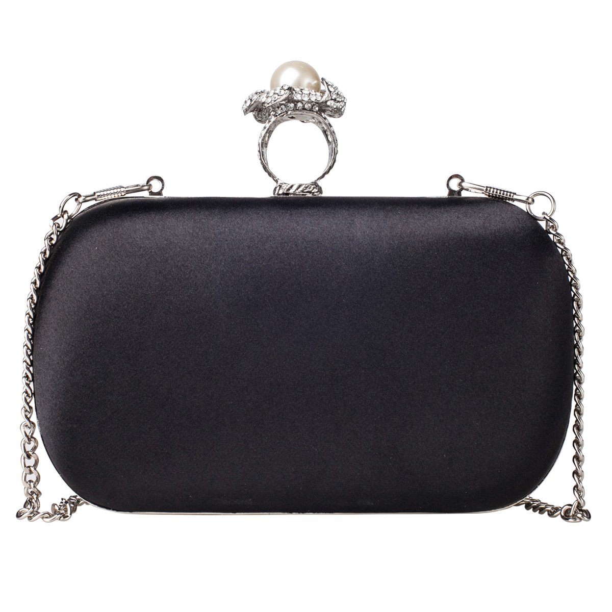 Big Hot Sale Clean Stock Low Price La Cle LA-044 Evening Clutch Bag Purse( Black): Amazon.co.uk: Luggage