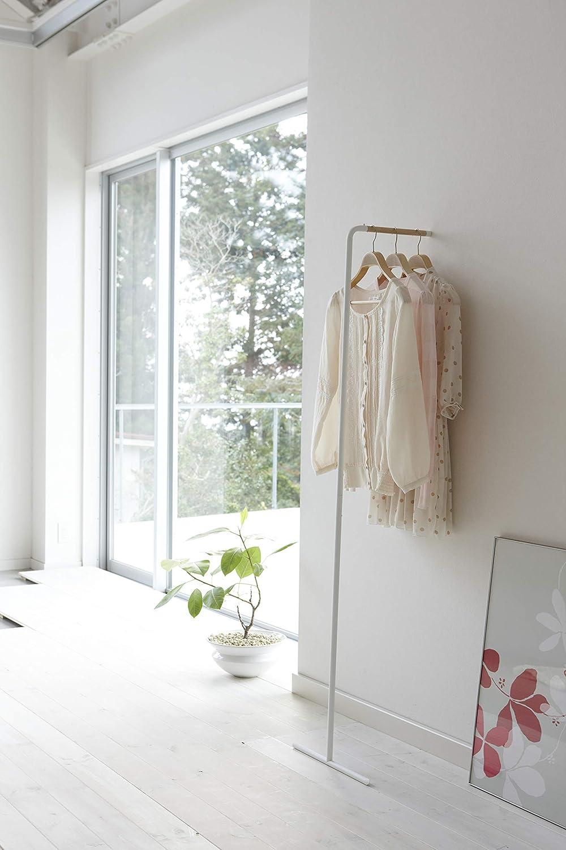 YAMAZAKI home 7550 Tower Leaning Slim Coat Hanger,White