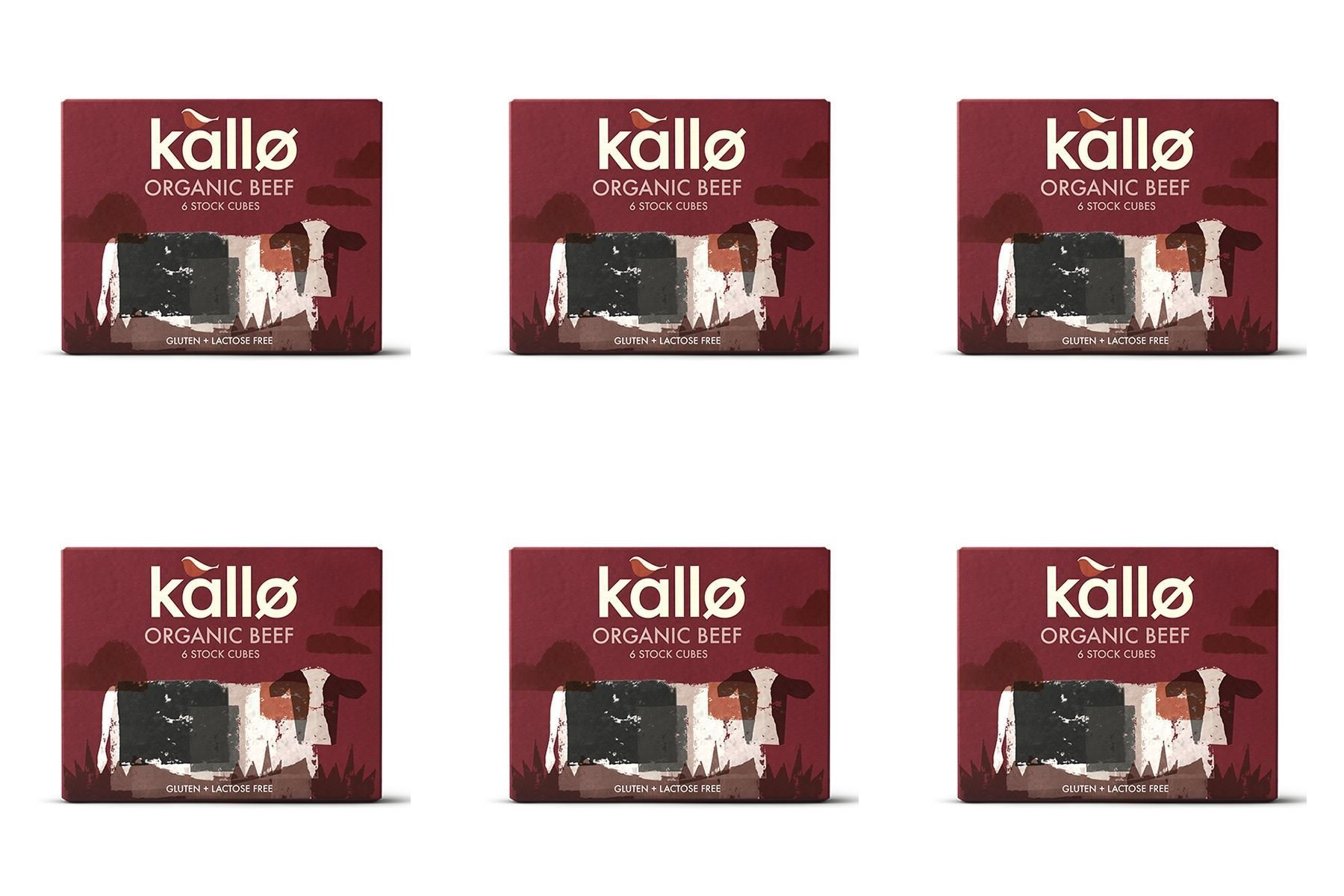 (6 PACK) - Kallo Beef Stock Cubes - Low Salt & Organic| 51 g |6 PACK - SUPER SAVER - SAVE MONEY