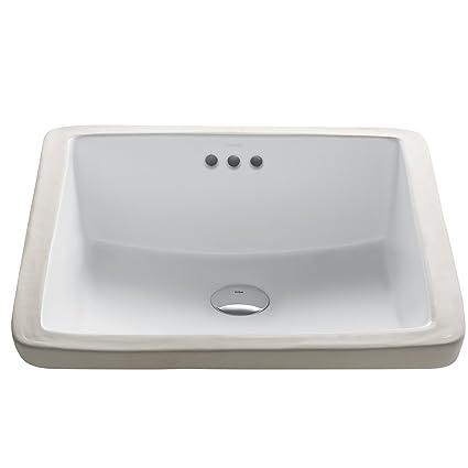 Kraus Kcu 231 Modern Elavo Ceramic Square Undermount Bathroom Sink