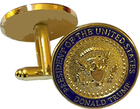 president donald trump gold eagle coin cuff links with oval office presidential seal amazoncom white house oval office