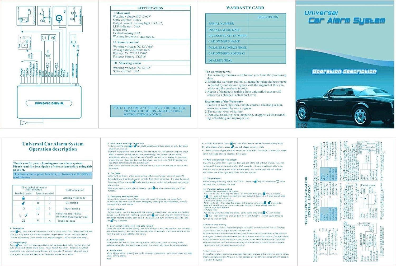 Interior Accessories Car Remote Central Locking Kit Anti-theft ...