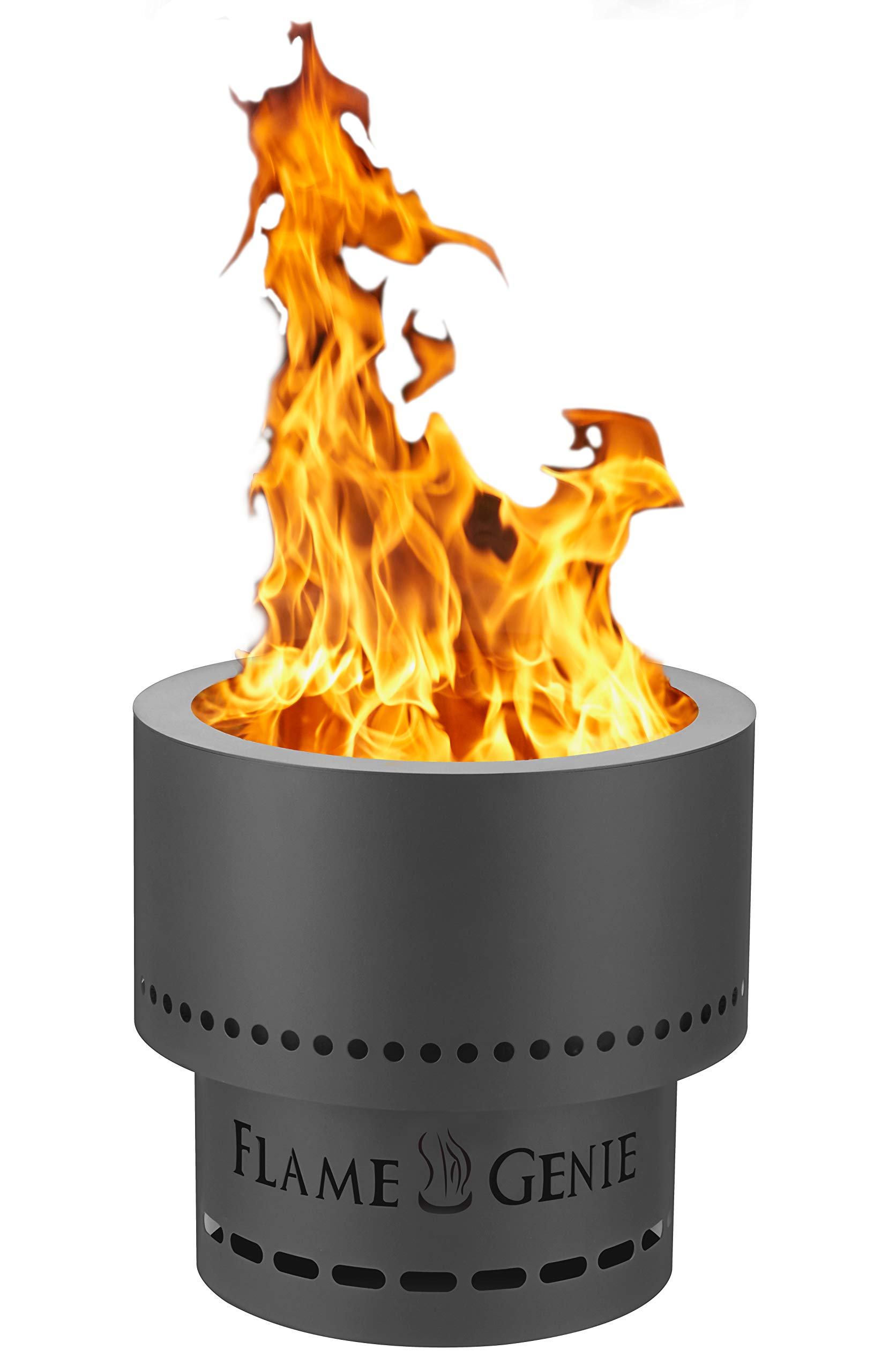 Hy C Fg 16 Flame Genie Portable Smoke Free Wood Pellet Fire Pit Usa Made 13 5 Diameter Black Buy Online In Cook Islands At Cook Desertcart Com Productid 9598054