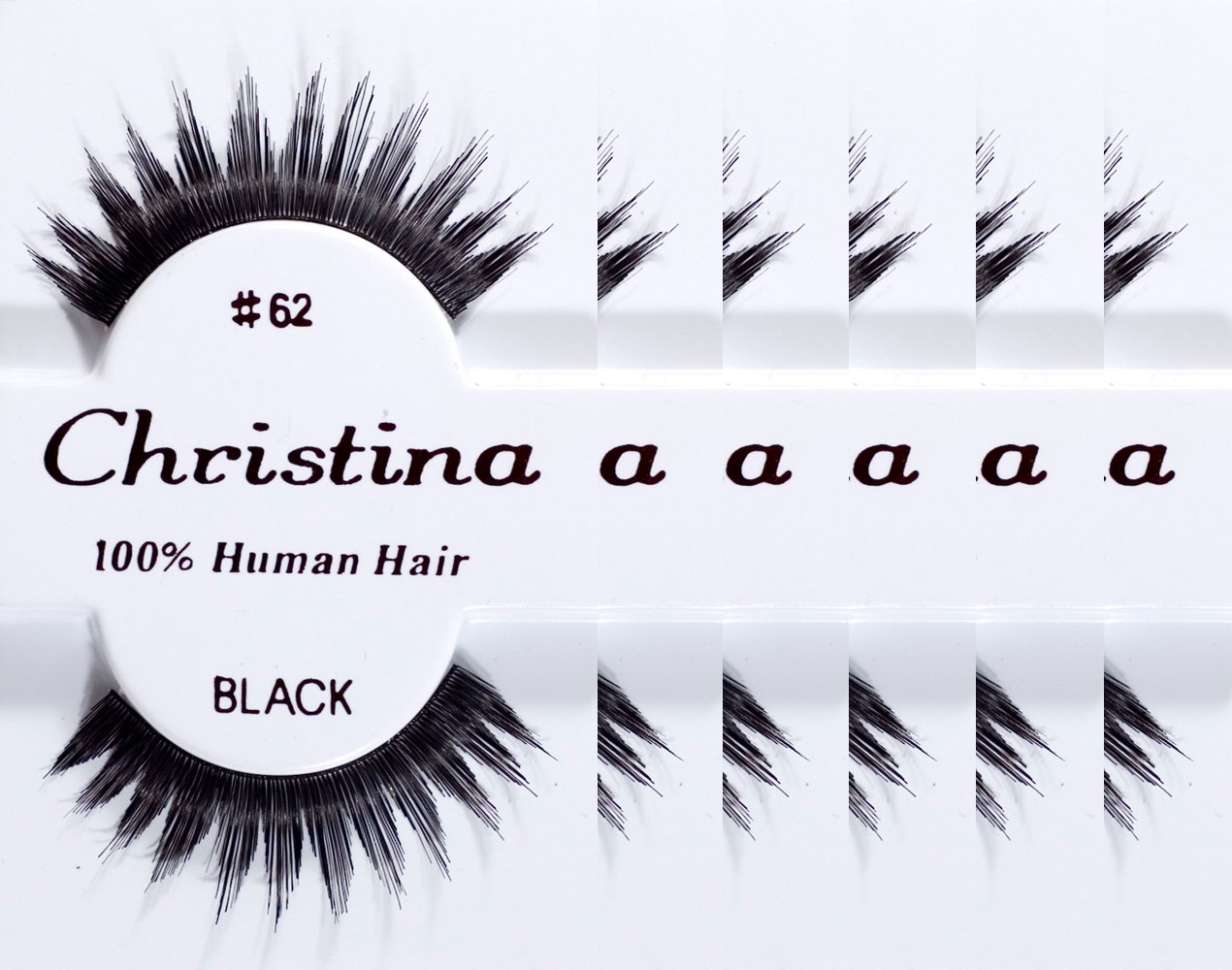 Amazon 6packs Eyelashes 62 By Christina Beauty Products