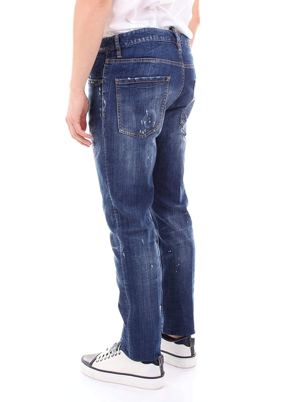 DSQUARED Jeans Gamba Dritta S71LB0497 Denim Size:50: Amazon ...