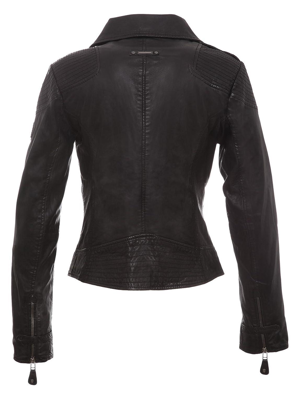 Veste Dans 36 Noir Fedra Cuir Une 44 En Motard Taille Style 4qqwC0