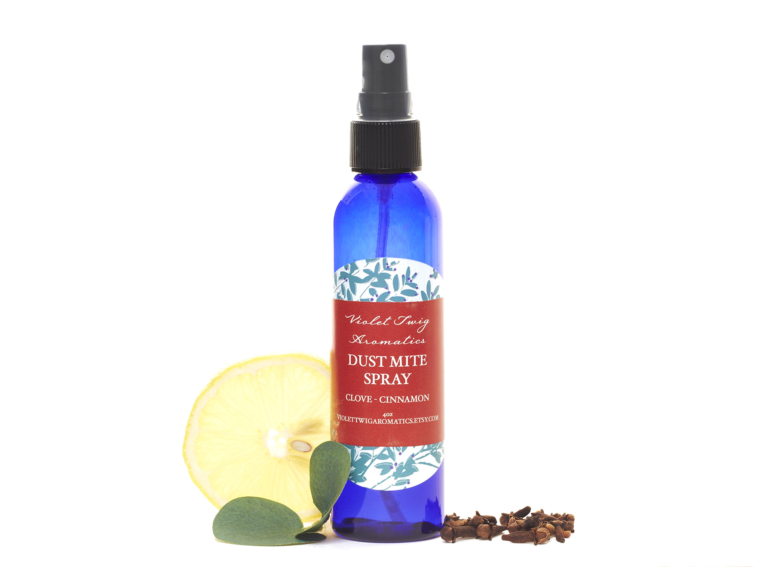 Dust Mite Spray - Mattress Spray - Pet Bed Spray - Kills Dust Mites - Natural Clove Oil - Mattress Disinfectant - Pillow Disinfectant - Disinfects Stuffed Animals - Essential Oils - Natural and Organic - Breaks Down Pet Urine Pheromones