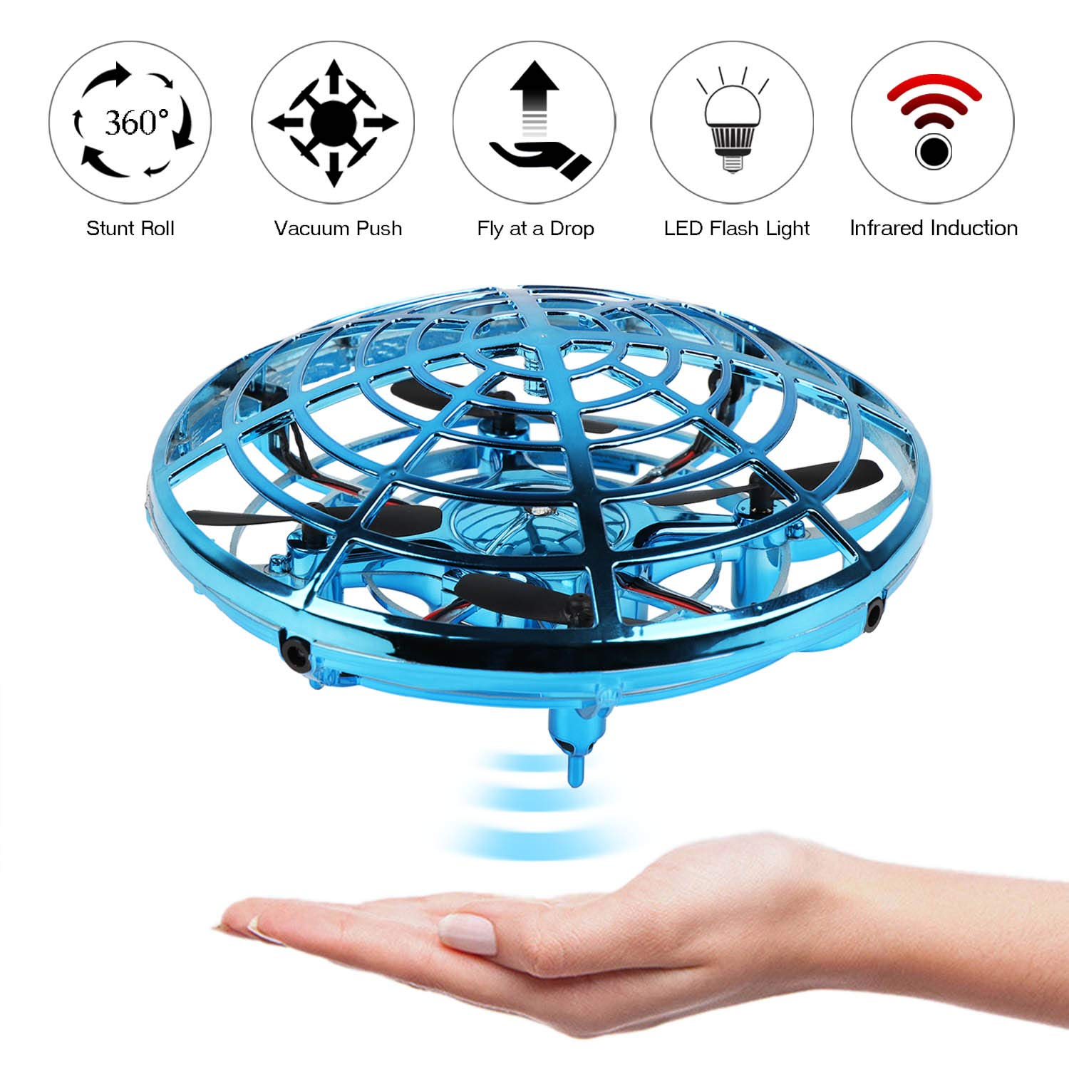 KETEP 2019 Upgrade Flying Toys Drones for Kids, Mini Drone Helicopter, Infrared Sensor Auto with 360° Rotating Hand Controlled Drone Toys for Boys or Girls by KETEP