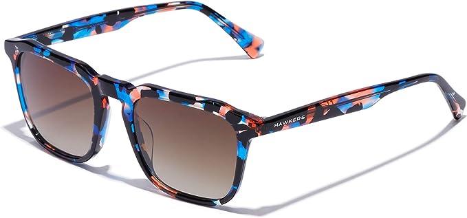 HAWKERS Gafas de Sol Eternity Carey, para Hombre y Mujer, con Montura Estampada y Lentes Marrones con Efecto Degradado, Protección UV400 Unisex Adulto