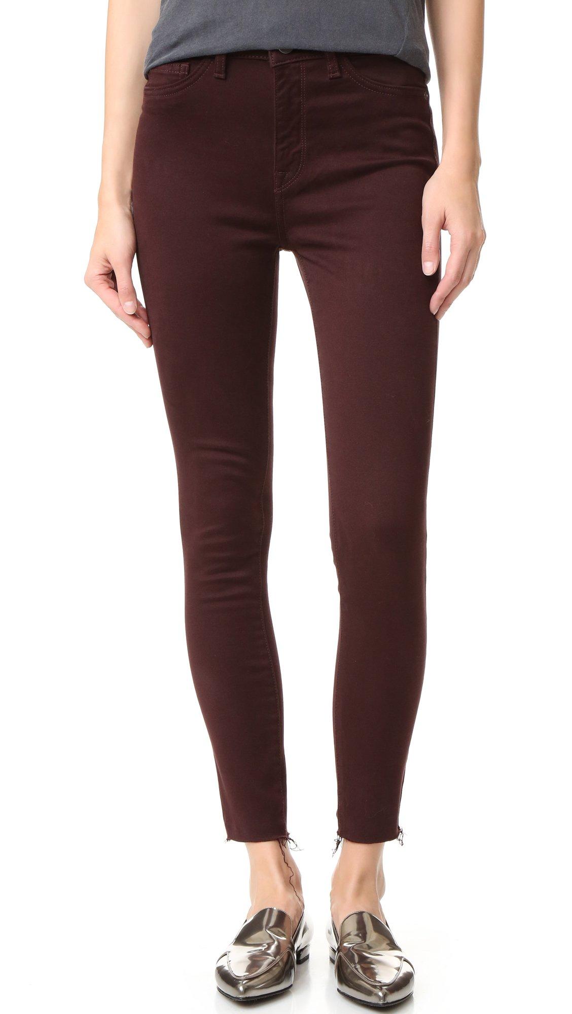 DL1961 Women's Jessica Alba No.2 Super Skinny Ultra High Rise Jeans, Cabernet, 25