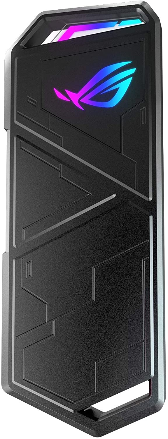ASUS ROG STRIX Arion Aluminum Alloy M.2 NVMe SSD External Portable Enclosure Case Adapter, USB 3.2 Gen 2 Type-C (10 Gbps), USB-C to C and USB-C to A Cables, Fits PCIe 2280/2260/2242/2230 M Key/B+M Key