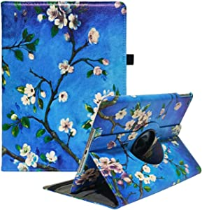 iPad Case Fit 2018/2017 iPad 9.7 6th/5th Generation - 360 Degree Rotating iPad Air Case Cover with Auto Wake/Sleep Compatible with Apple iPad 9.7 Inch 2018/2017 (Pear Flower)
