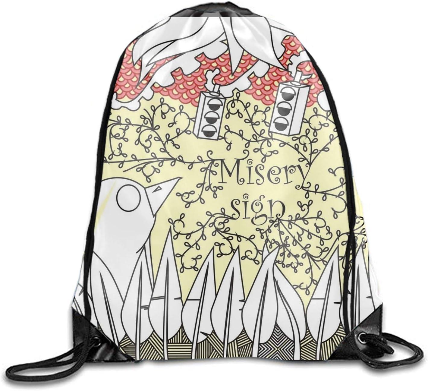 Artistic Psychedelic Urban Art Urban Dark Emo Gym Bag Lightweight Travel Backpack