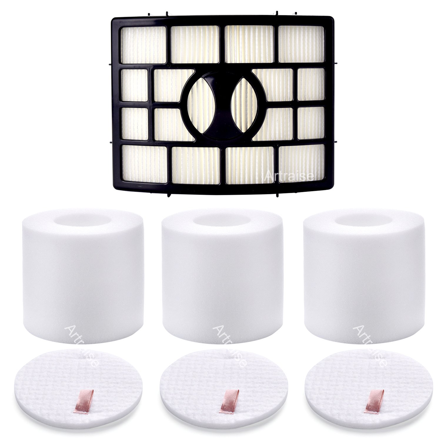 3 Pack Filters for Shark Rotator Powered Lift-Away NV650, NV750, AX950, AX951, AX952, XFF650 & XHF650 By Artraise