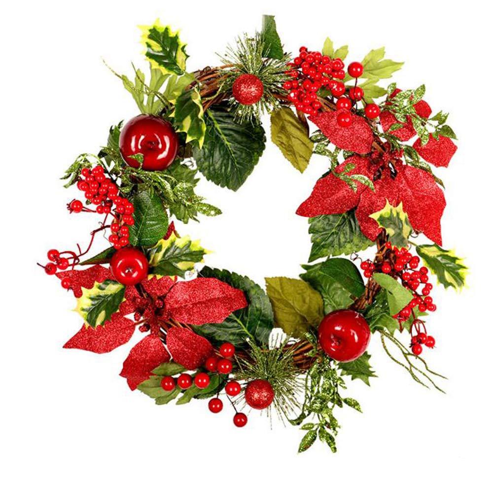 Window Kitchen Rattan Wreath Fall Wreath,Red Fall Door Wreath,Autumn Wreath,Front Door Wreaths,Fall Decor Christmas Decor for Hotel Home