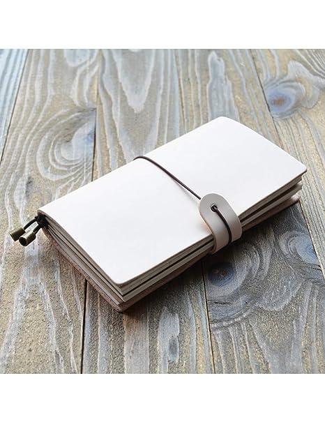 BJYG Oficina Cuaderno de Cuero Genuino Retro Journal Flora ...