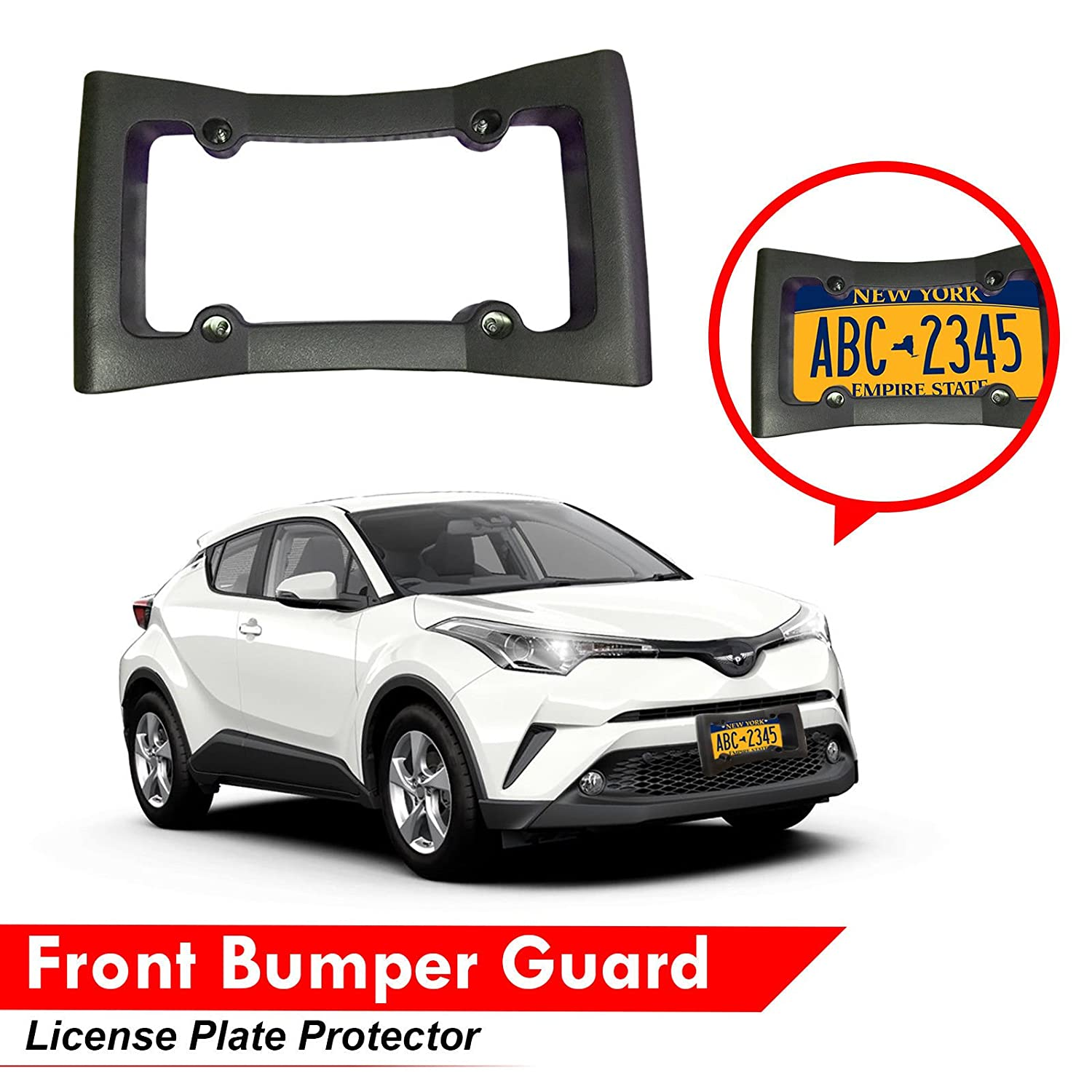 Amazon Black Car Front Bumper Guard Heavy Duty EVA