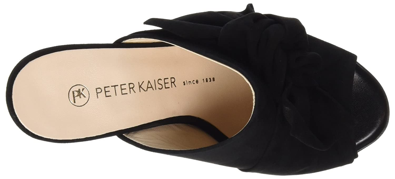 Peter Kaiser Damen Anilia Peeptoe Suede) Sandalen, Schwarz (Schwarz Suede) Peeptoe dd202d