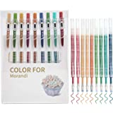 STAPENS Retractable Gel Pens, 0.5mm Fine Point Pens with Refills, 9 Assorted Colors (Retro 9 Colors)