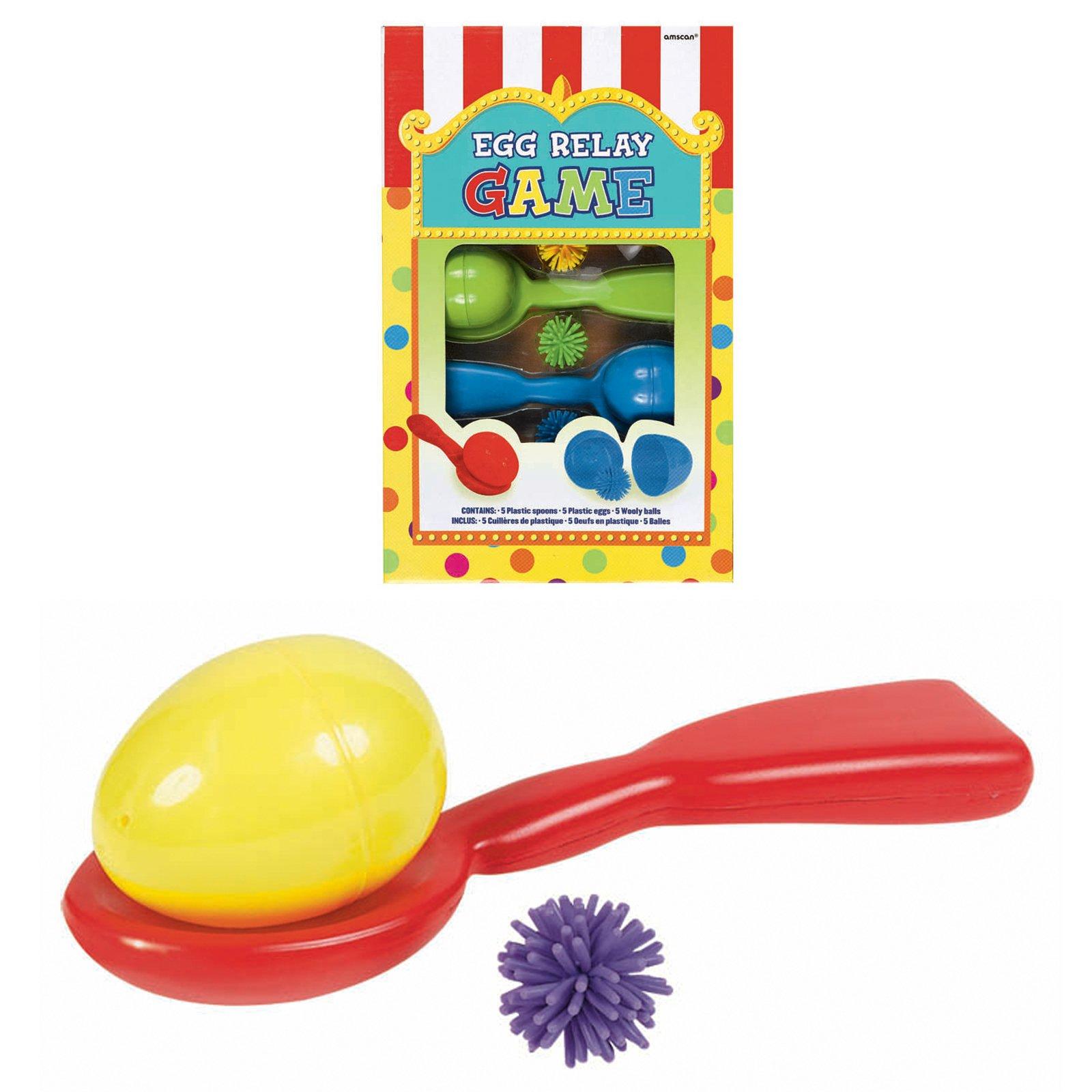 Amscan Carnival Fair Fun Egg Relay Game Party Activity