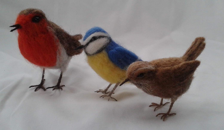 Kit de fieltro con agujas de tres pájaros, diseño de corbata de ...