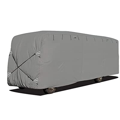 Arch Motoring 3 Layers Class A Cover, RV Travel Trailer Cover, Fit 33' to 37' Long, Dustproof, Windproof, UV Protection, Breathable: Automotive