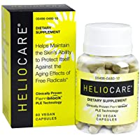 Heliocare Skin Care Dietary Supplement: 240mg Polypodium Leucotomos Extract Pills - Antioxidant Rich Formula with Fernblock and PLE Technology - 60 Veggie Capsules