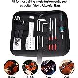 ギター 修理ツール セット ギターメンテナンスツールキット ギターファイルフレット 弦カッター 定規弦 アクションゲージレンチ ギターケア クリーニングツールキット 収納バッグ 付き
