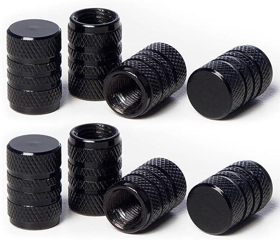 Circuit Performance VC1 Series Black Aluminum Valve Stem Caps (8 Pieces)