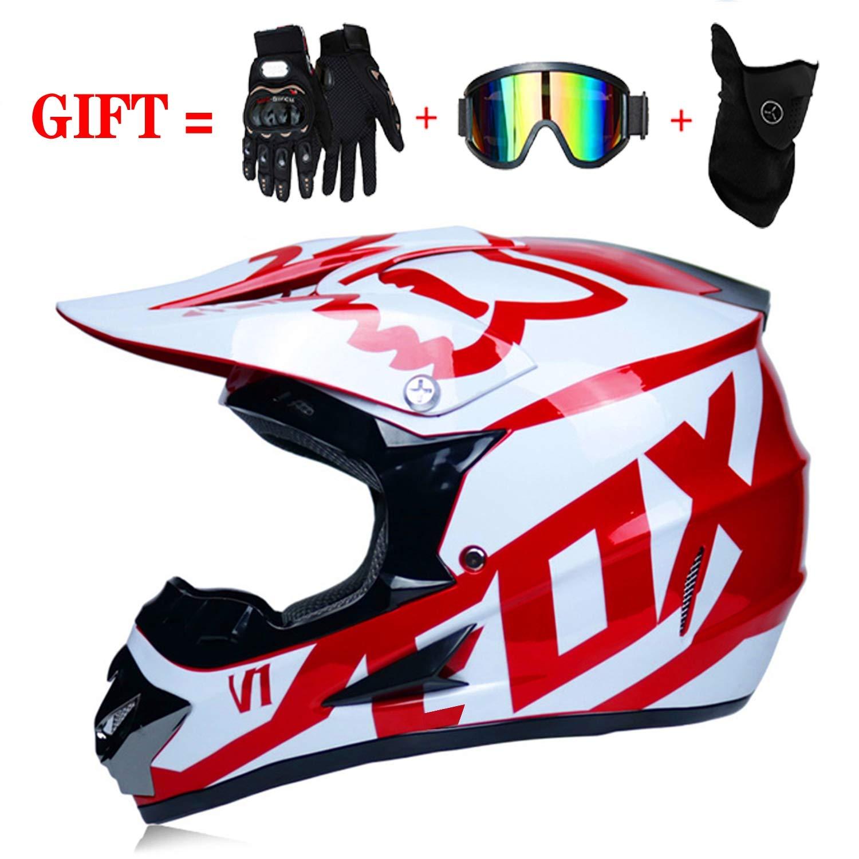 LLLD Helm Safe Full Face Classic Fahrrad MTB Dh Racing Helm Motocross Downhill Fahrradhelm Capacetes Motocross f/ür Erwachsene Jugend Junior Kinder Kinder