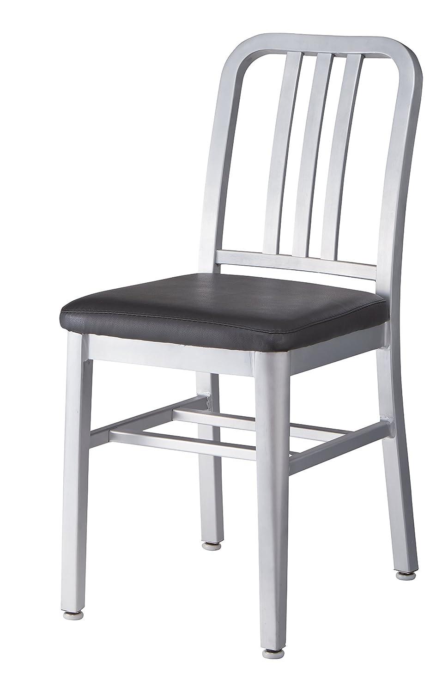 ダイニングチェア チェア 椅子 いす 座面高さ48cm ウッド レザー 合成皮革 ブラック B075YSGQMZブラック