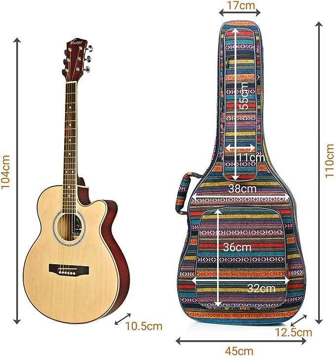 CAHAYA Funda para Guitarra Estilo Bohemia Bolsa Guitarra Clasica ...