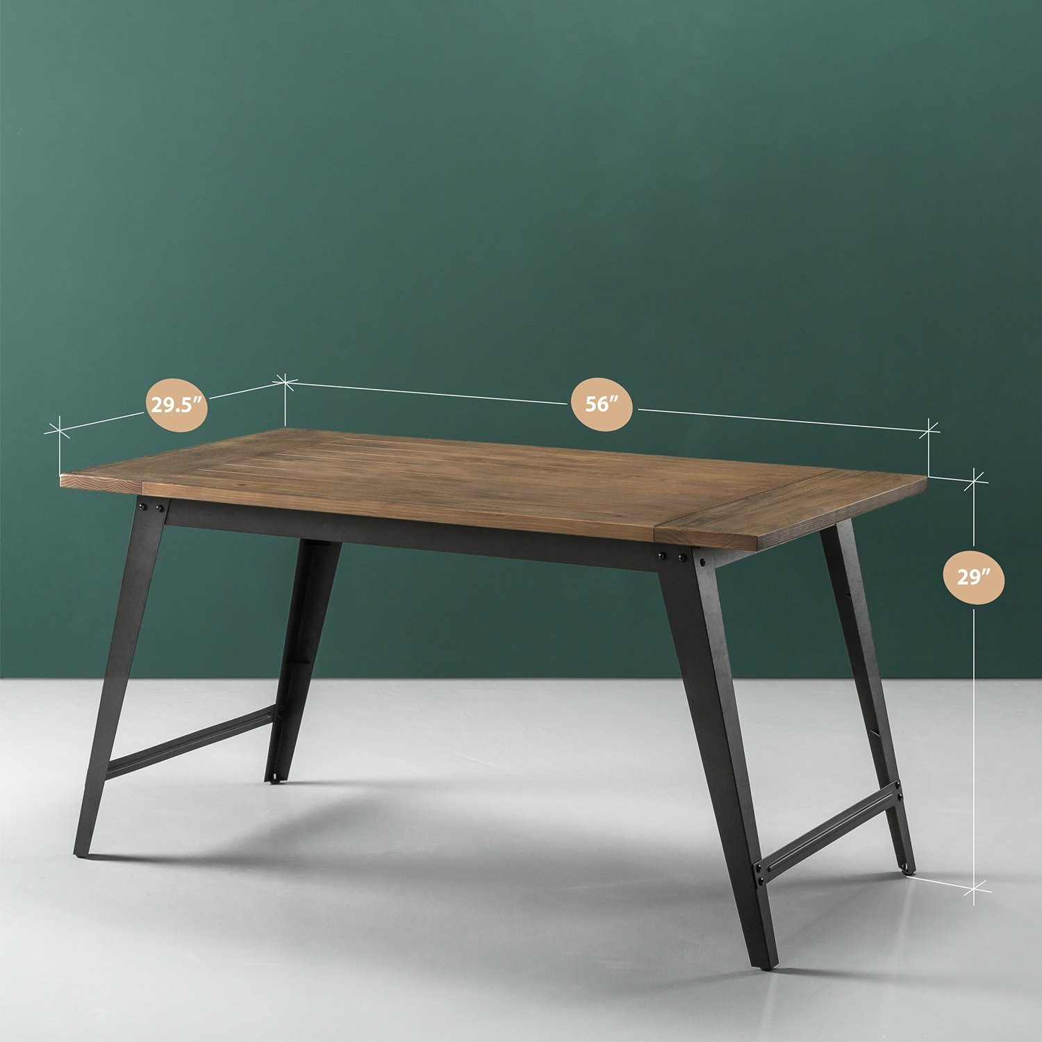 Zinus Donna Wood and Metal Dining Table by Zinus (Image #2)