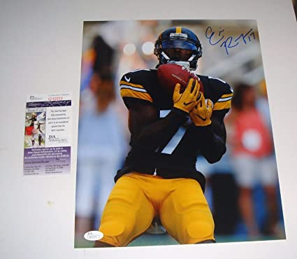 54388e149 Image Unavailable. Image not available for. Color  Pittsburgh Steelers Eli  Rogers Autographed Signed ...