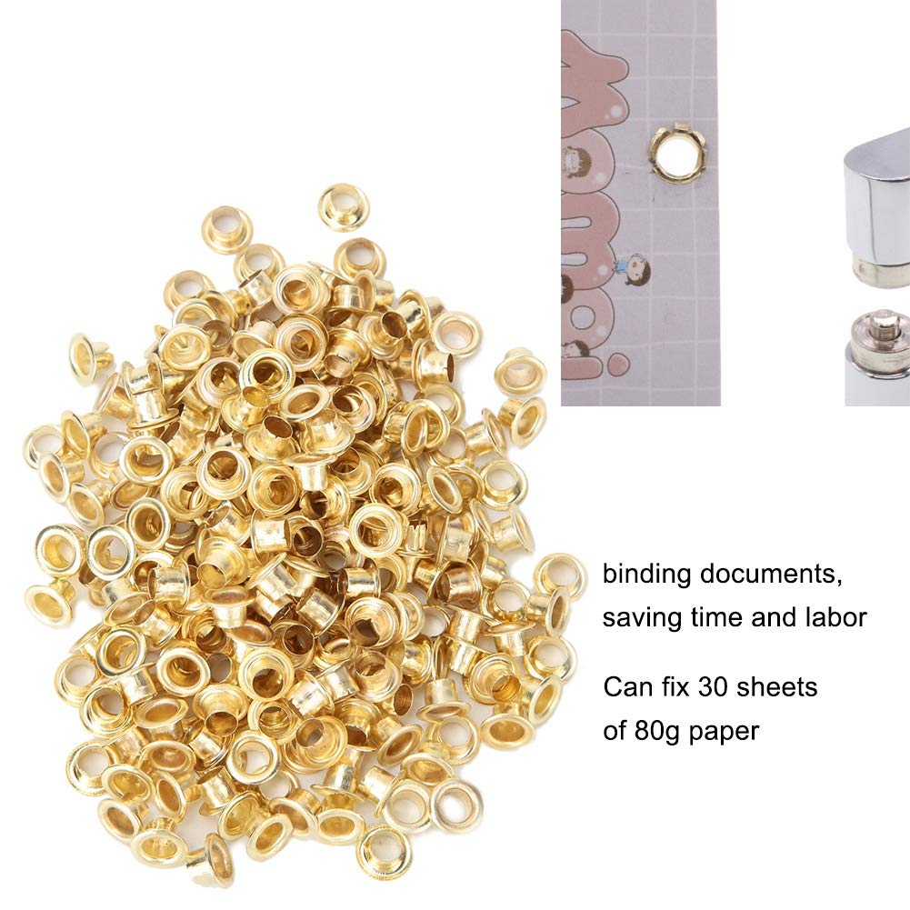 Metal Grommets Eyelets Kit,Metal Eyelet Set Sturdy Durable Grommet Binding Metal Retainer Single Hole Slot Paper Card Puncher for Hole Slot Puncher Binding documents