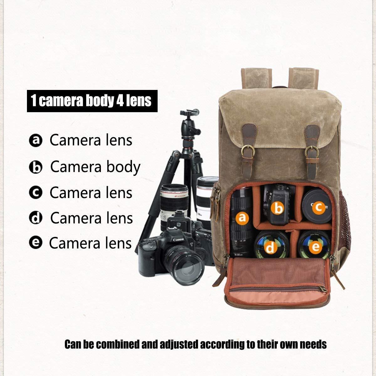 Waitousanqi Well-Made Seven-Color Cotton One-Shoulder Camera Bag Retro Men and Women Waterproof Shoulder Bag Eyeliner SLR Digital Camera Bag A15