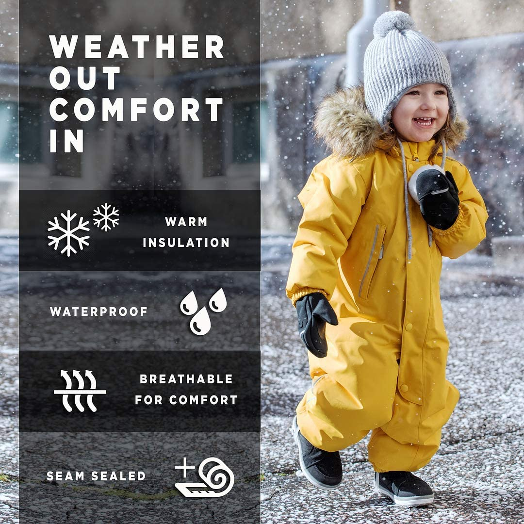 Reima Toddlers' Puhuri Winter One-Piece Overall Snowsuit Insulated Outerwear: Clothing