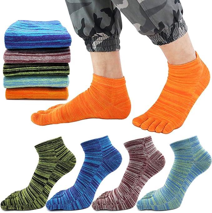 REKYO Women Toe Socks Five Finger Socks Soft and Breathable Low Cut Ankle Socks