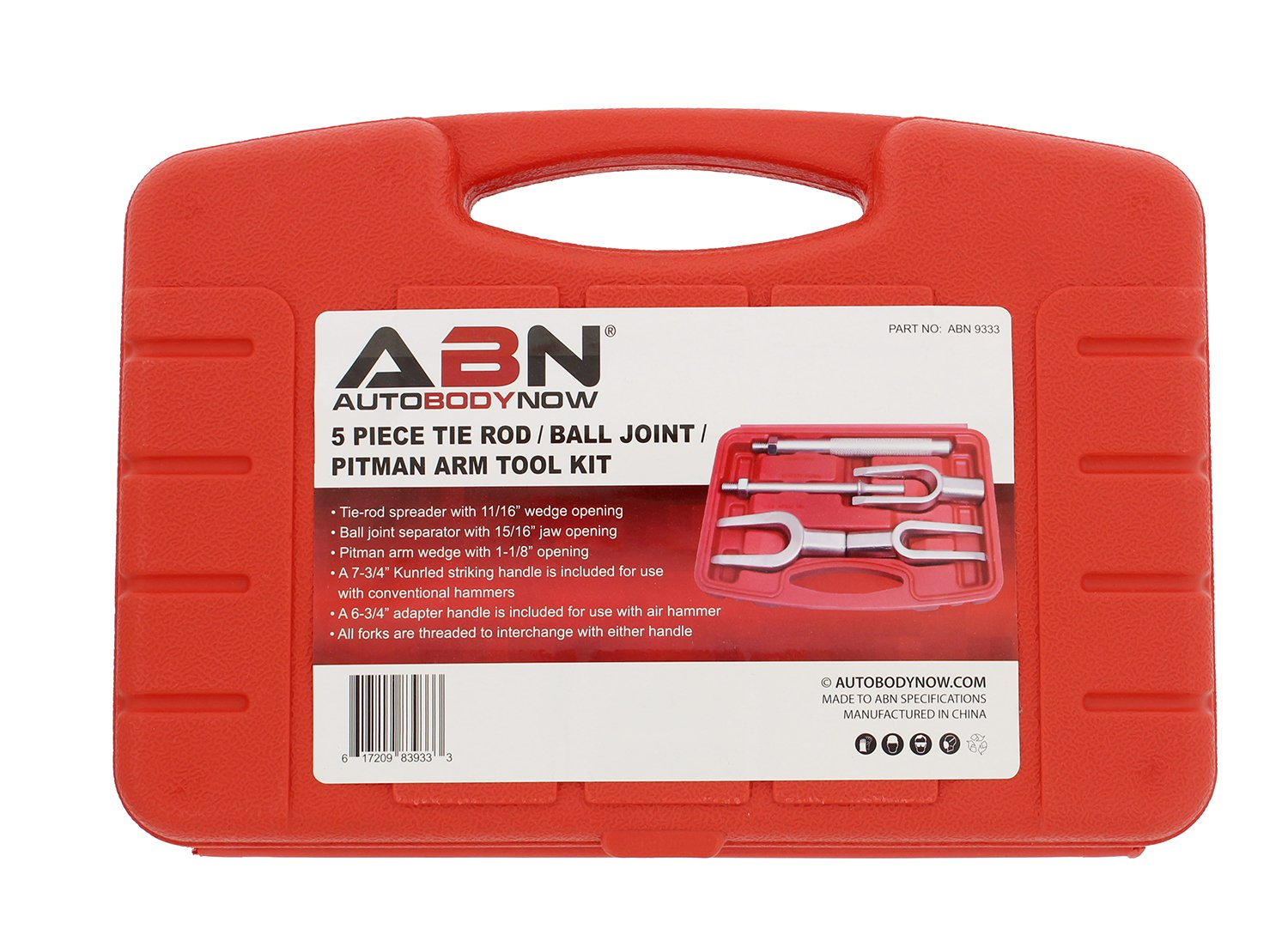 ABN Ball Joint Separator for Cars and Light Trucks and Pitman Arm 5-Piece Tool Kit Tie Rod