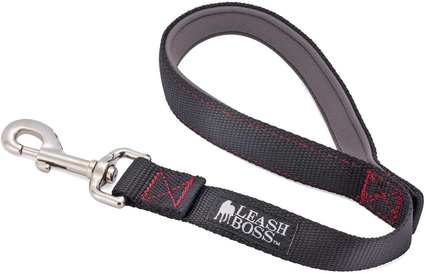 18 1 Inch Nylon 24 and 30 Inch Leads for Large Dogs Leashboss Short Dog Leash with Padded Handle 12