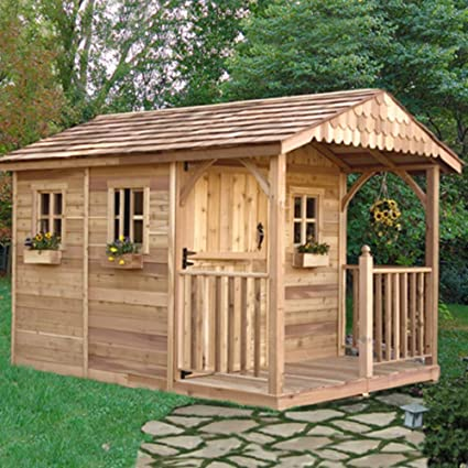 amazon com santa rosa wood storage shed wood outdoor shed