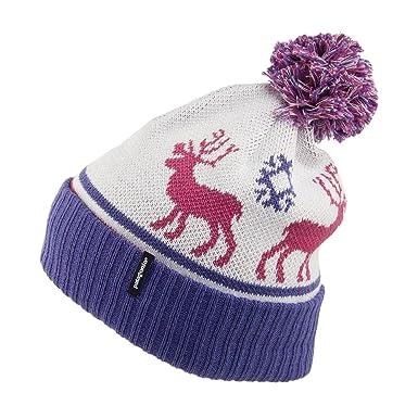 Patagonia Hats Kids Powder Town Beanie Hat - White-Purple Kids - 1-Size 8d0ff4f83b2