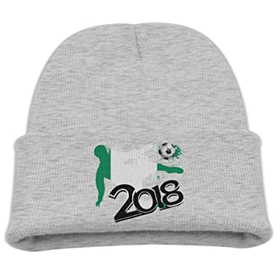 5fb14abacd6 2018 Football Match Nigeria Boy Kid s Warm Winter Hats Classic Skull Caps