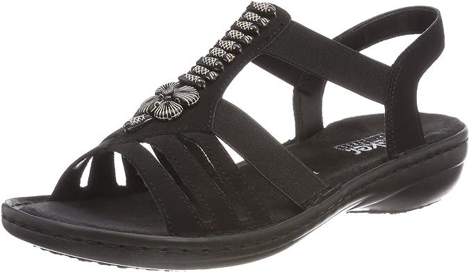 Rieker Damen 60806 Geschlossene Sandalen: : Schuhe UzYae