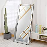 "Full Length Mirror, Openuye 70""X30"" Vanity Mirror Standing Hanging or Leaning Against Wall, Rectangle Large Mirror Floor Mirr"