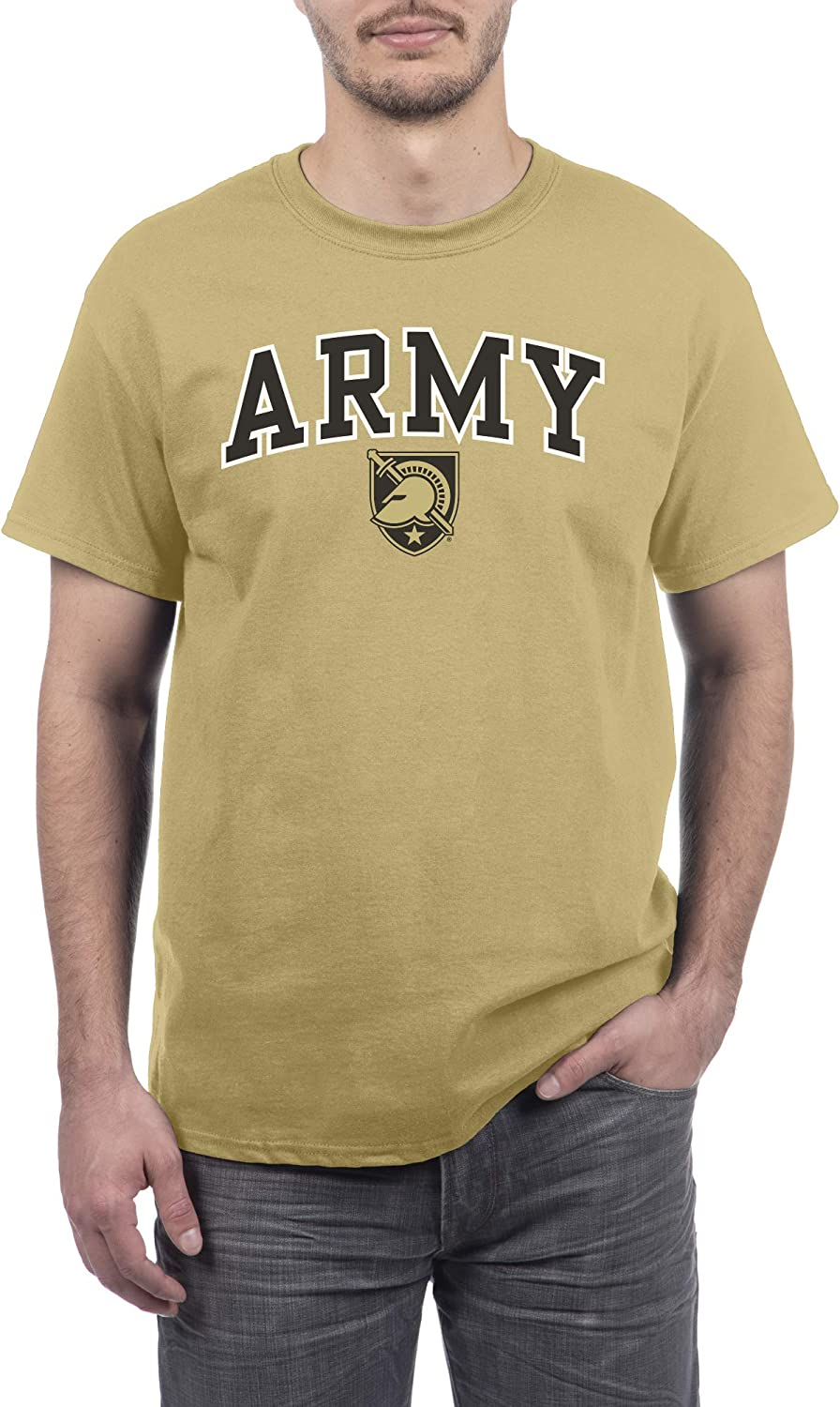 Elite Fan Shop Army Black Knights Mens Short Sleeve Alternative Team Color Arch Tee X-Large