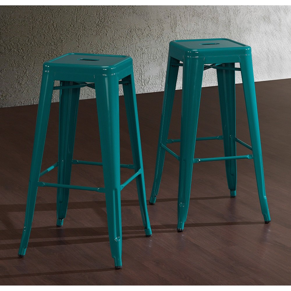 Surprising Amazon Com Tabouret 30 Inch Peacock Bar Stools Set Of 2 Gmtry Best Dining Table And Chair Ideas Images Gmtryco