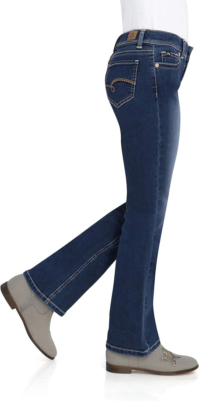Dark Enzyme Wash, Size 5 Slim, 12.5 Plus Jordache Girls Bootcut Jean,Slim and Plus with Adjustable Waist Fit