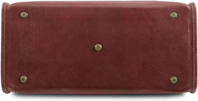 Tuscany Leather Raffaello Bolso de Doctor en Piel Miel Rojo